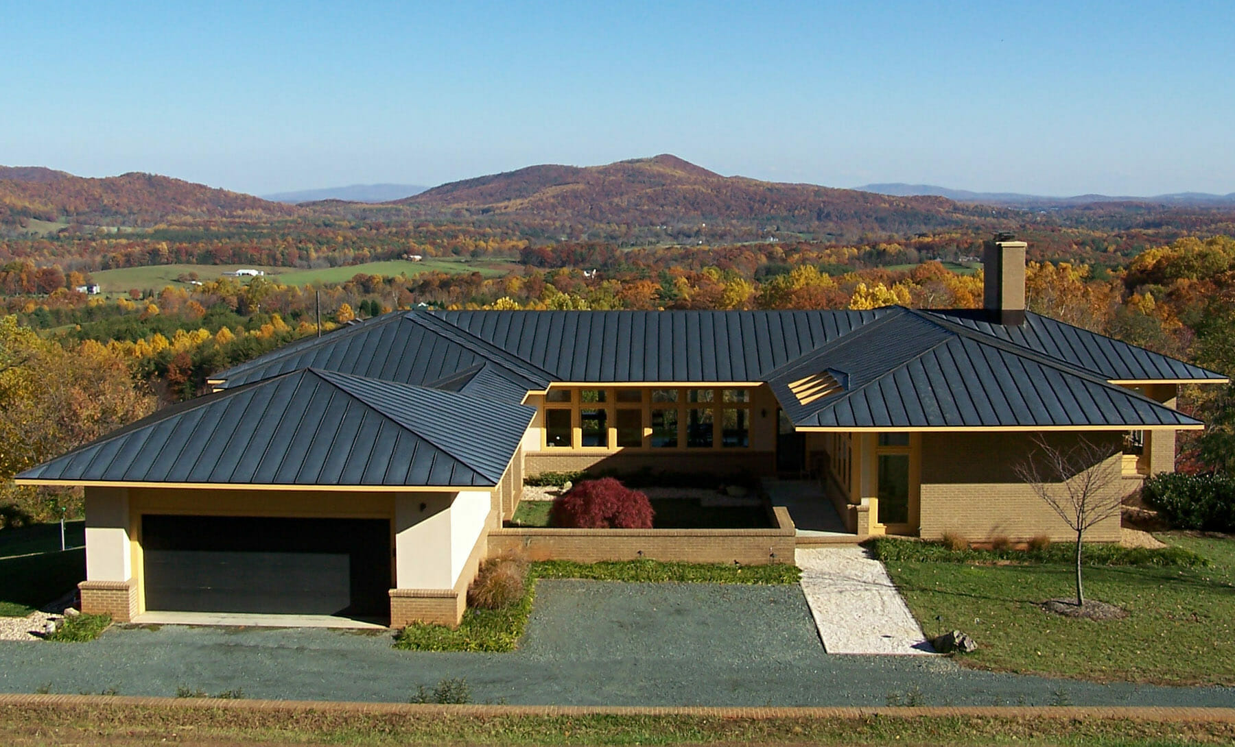 New home construction in Albemarle County with mountain views by Gibson, Magerfield & Edenali