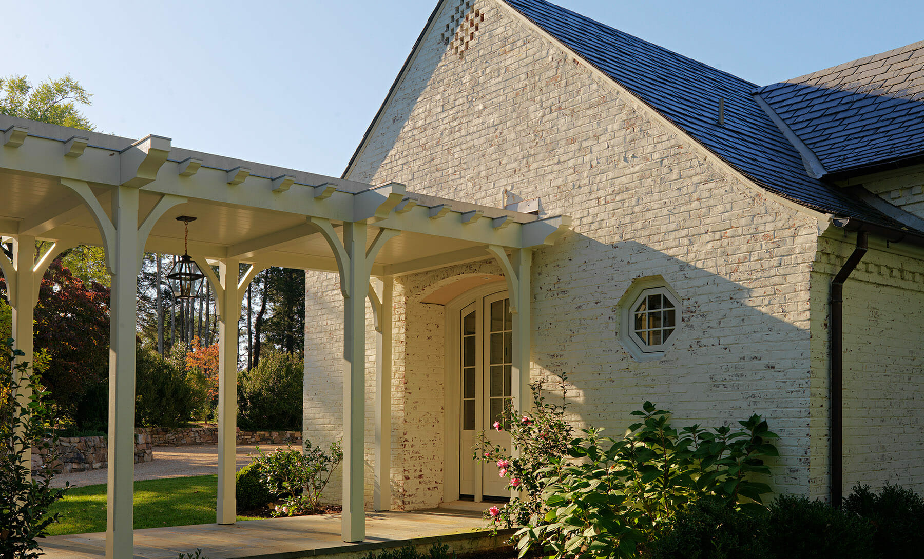 Covered walkway, new home additions in Charlottesville.
