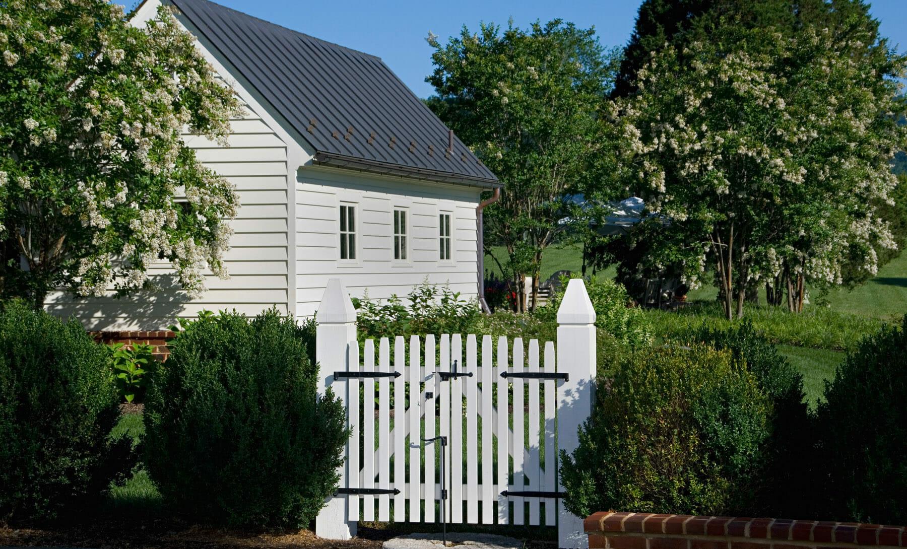 Gated garden in Charlottesville, Virginia