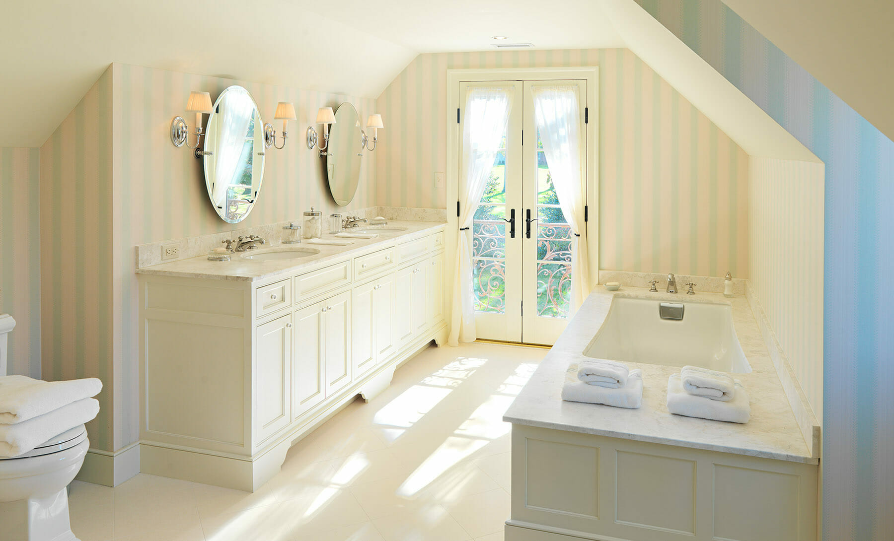 Custom built bathroom in Charlottesville, Virginia by GME Builders