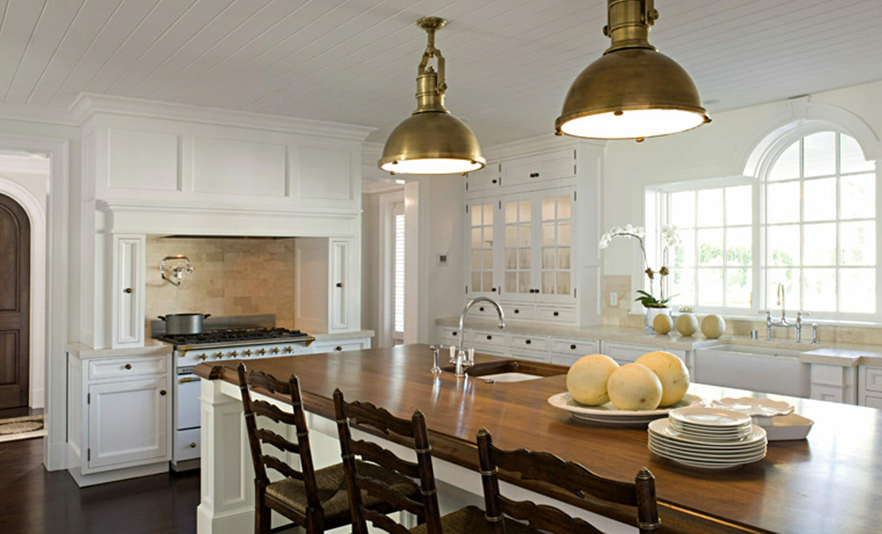 Redesigned kitchen with breakfast bar by Gibson Magerfield Edenali, located in Charlottesville, VA